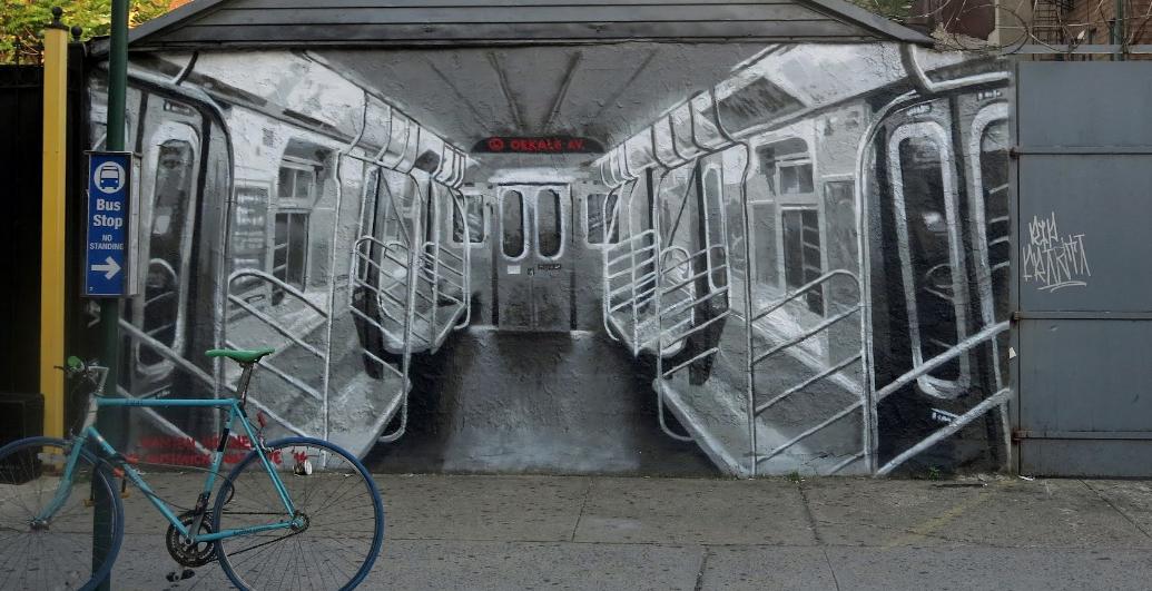 Wall art in Bushwick, Brooklyn, NY Source