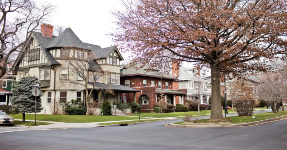Victorian-style houses in Prospect Park in Brooklyn, NY