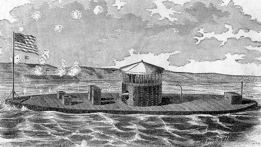 USS Monitor during the American Revolutionary War